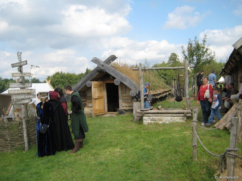 Snapshot Viking settlement at living-history-park