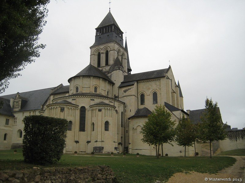 Fontevraud Abbey seen from the east
